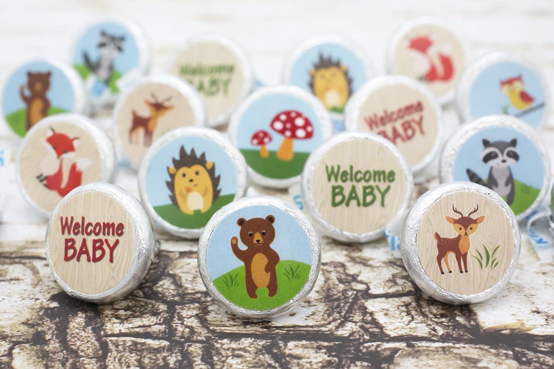 Amazon.com: Woodland Animals Baby Shower Favor Stickers (Set Of 324):  Health U0026 Personal Care