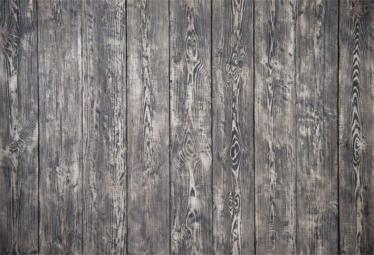 10x15ft Customizable Vinyl Wood Photography Backdrops Indoor Outdoor White Retro Wooden Floor and Wall Wood Plank Texture Background Portrait Photo Booth Studio Prop Theme Wedding Decoration