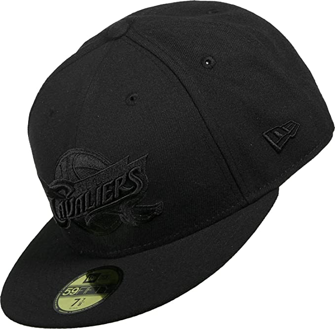 New Era Mujeres Gorras / Gorra plana NBA Black On Black Cleveland Cavaliers 59Fifty: Amazon.es: Ropa y accesorios