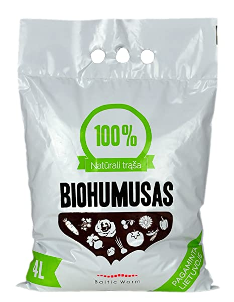 Fertilizante orgánico - Puro Humus de Lombriz de Baltic Worm | Natural Fertilizante Multipropósitor- Lombricomposta, fortalecedor de suelos, ...