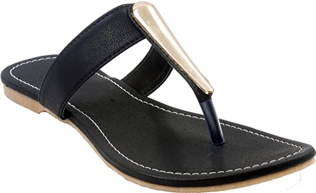 Classy Black Sippers |Tan Slippers| Tan Flats| Black Flats | Chappal | Footwear for Ladies | Flats | Slipper for Women Women's Flip-Flops & Slippers at amazon