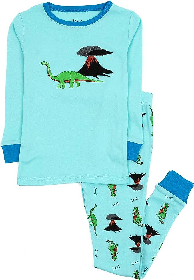 Leveret Kids Pajamas Boys Girls 2 Piece pjs Set Animal Prints 100/% Cotton Size 12 Months-14 Years
