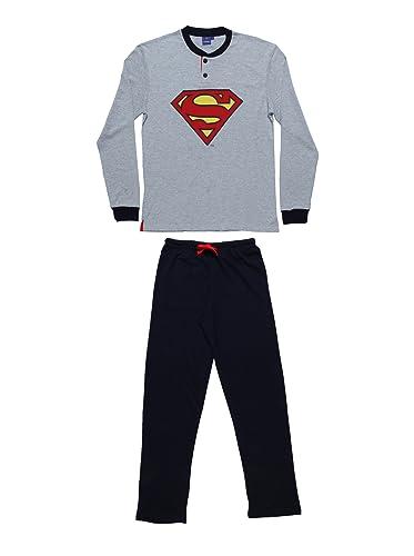 Warner Bros Pijamas de Hombre, Diseño de Superman Melange XL, Color Gris: Amazon.es: Ropa y accesorios