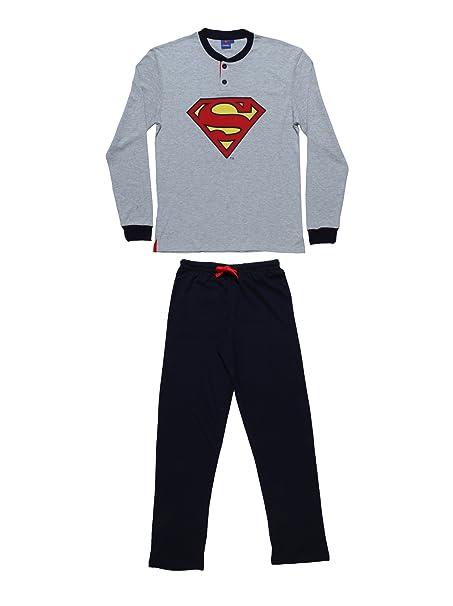 Warner Bros Pijamas de Hombre, Diseño de Superman Melange XL, Color Gris