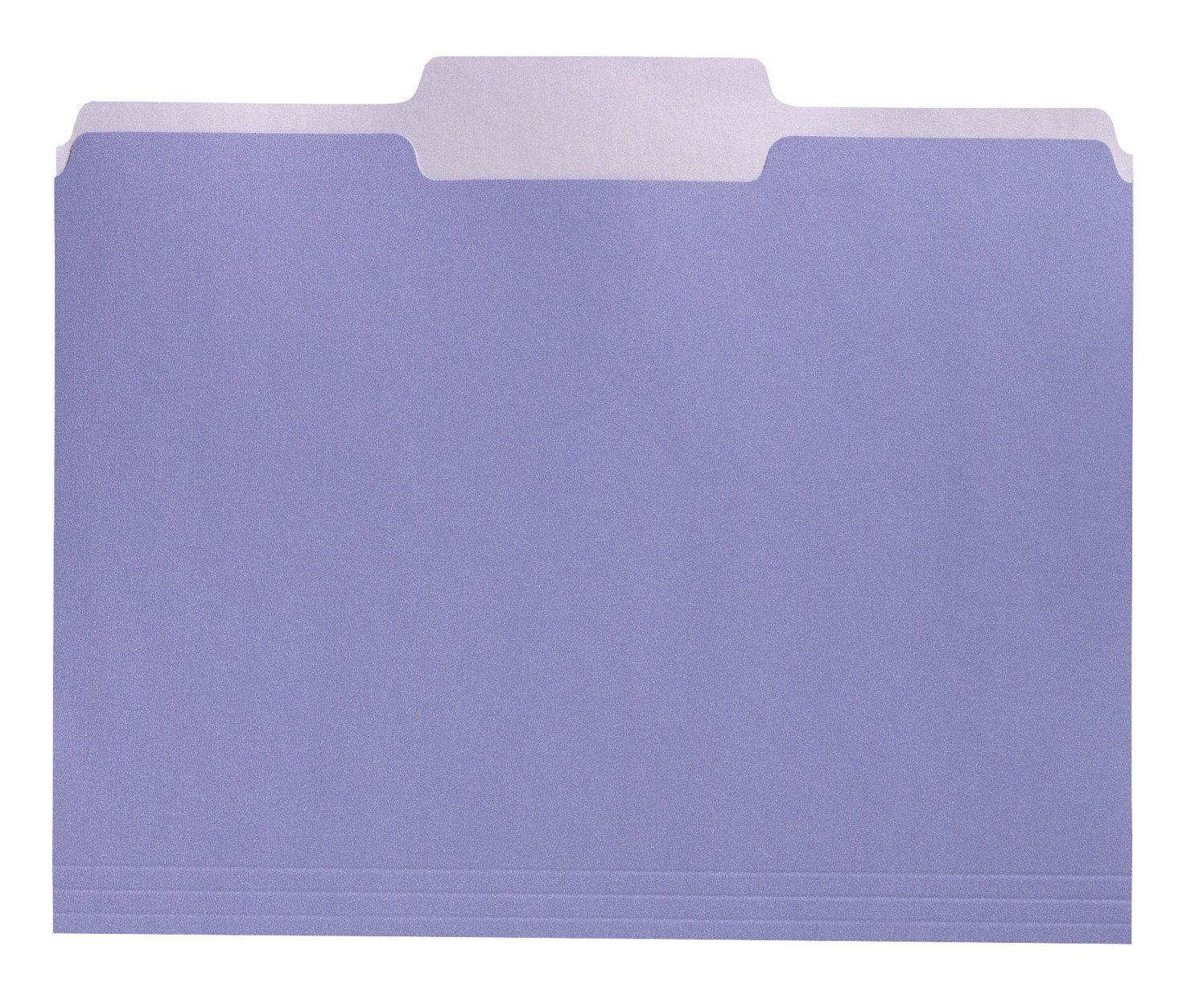 School Smart Two Tone Reversible Colored 1/3 Cut File Folders - Letter Size - Pack of 100 - Lavender