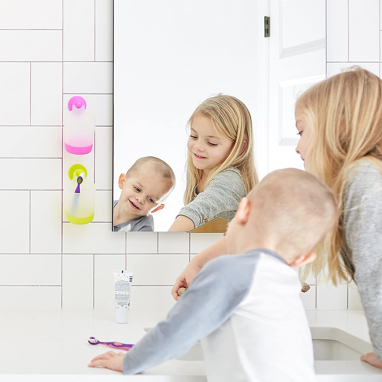 Rinse Cups PVC Free Azul - 2Pack Dishwasher Safe BPA Free Puj Play