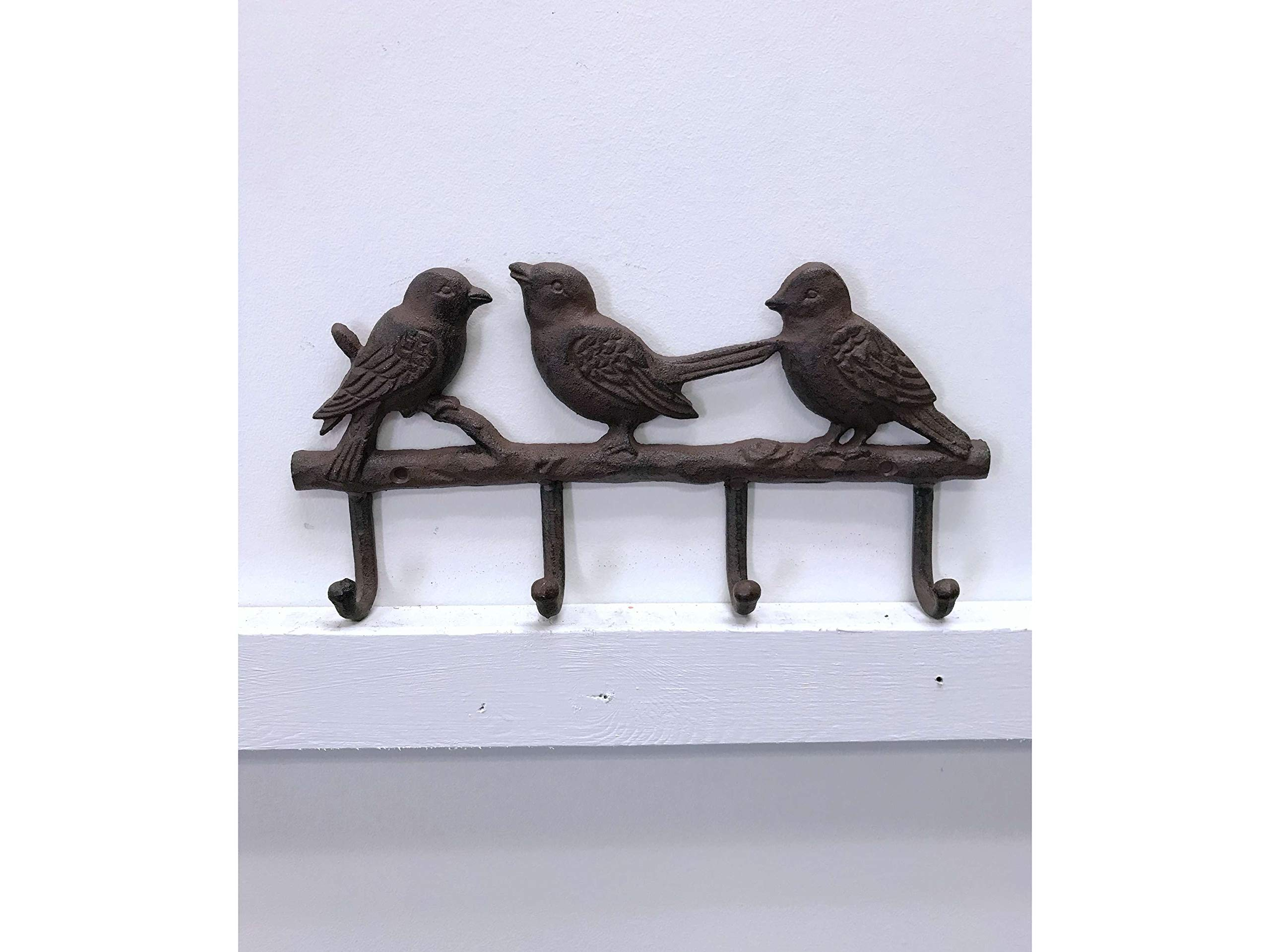 Jcook Home Decor Birdy Cast Iron Wall Hook (4-Hook)