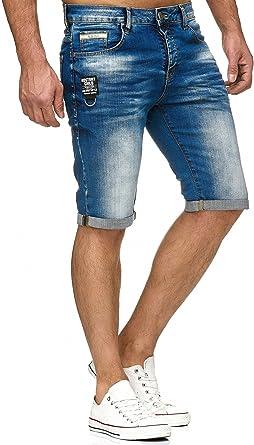 TALLA 29 Grande. Red Bridge Vaqueros Cortos para Hombres Denim Básico Casual Jeans Shorts Verano