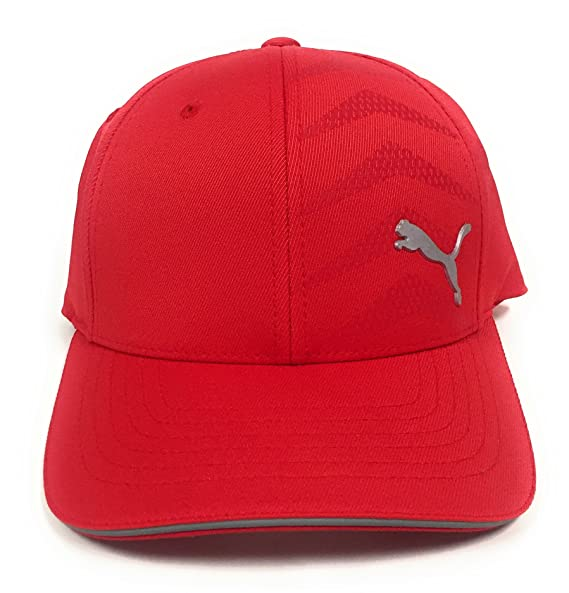 finest selection 77ca9 310ae Amazon.com  Puma Men s Curved Mesh Back Stretchfit Cap Red  Sports    Outdoors