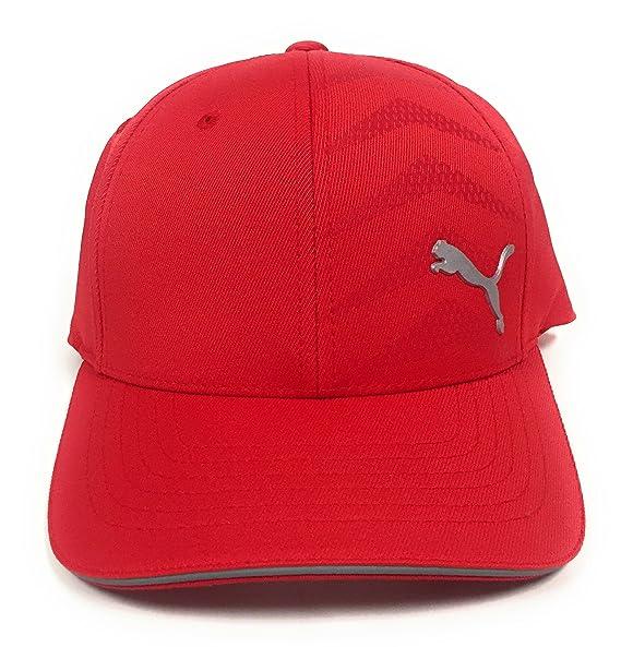 efbbea90 Amazon.com: Puma Men's Curved Mesh Back Stretchfit Cap Red: Sports &  Outdoors