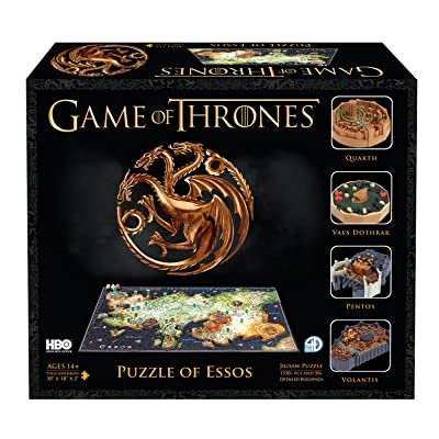 4D Cityscape Game of Thrones (GoT) 3D Time Puzzle of Essos (1400-Piece): Toys & Games
