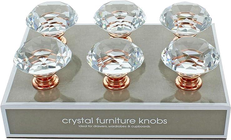 Crystal Door Knobs Drawer Cabinet Cupboard Furniture Kitchen Handle Pull Decor