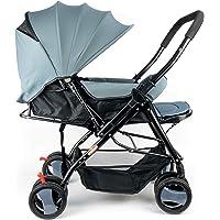 عربة اطفال مع مظلة من بيبي بلس BP7732 ، رمادي - قطعة واحدة