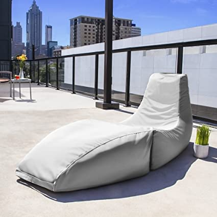 Jaxx Prado Outdoor Bean Bag Chaise Lounge Chair, White - Amazon.com : Jaxx Prado Outdoor Bean Bag Chaise Lounge Chair, White