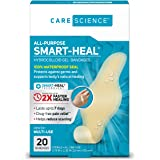 Care Science Fast Healing All-Purpose Hydrocolloid Gel Bandages, 20 ct | 100% Waterproof Seal Promotes Up to 2X Faster…