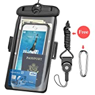 Underwater Case, FUTRE CellPhone Dry Bag Pouch Adjustable Armband for Apple iPhone 7/7Plus 6S 6 SE Samsung Galaxy S8 S8+ S7 S6 Note 5 4 HTC LG Sony Nokia Motorola (Black-6.3)