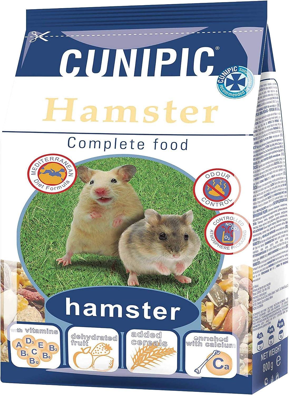 CUNIPIC Alimento para Hamster - 800 gr, Negro, Mediano (Ham 8)