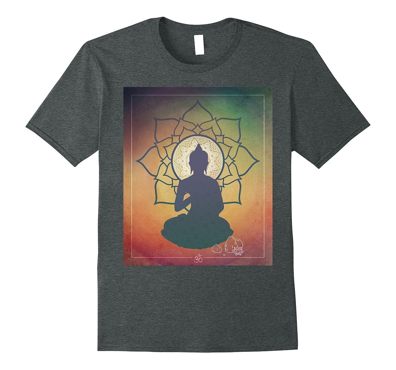 Colorful 7 Chakra Buddha T-Shirt - Mandala Lotus Om Design-BN