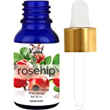 Rosehip Seed Oil by Ryaal - 100% Pure Organic Unrefined Cold Pressed Anti Aging Moisturizer for Hair Skin and Nails