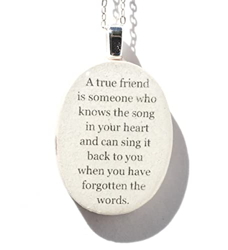 Amazoncom Best Friend Quote Pendant Necklace Bff Friendship
