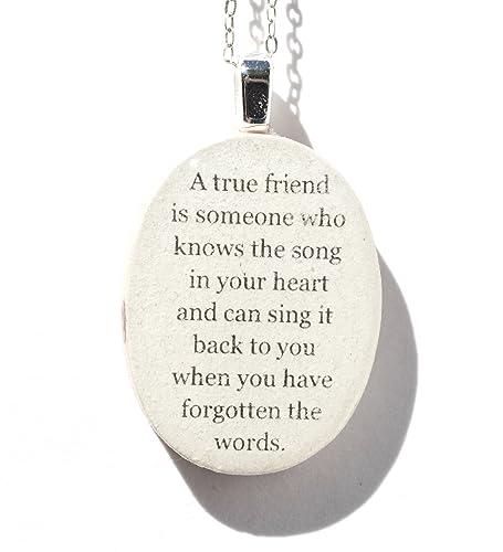 com best friend quote pendant necklace bff friendship