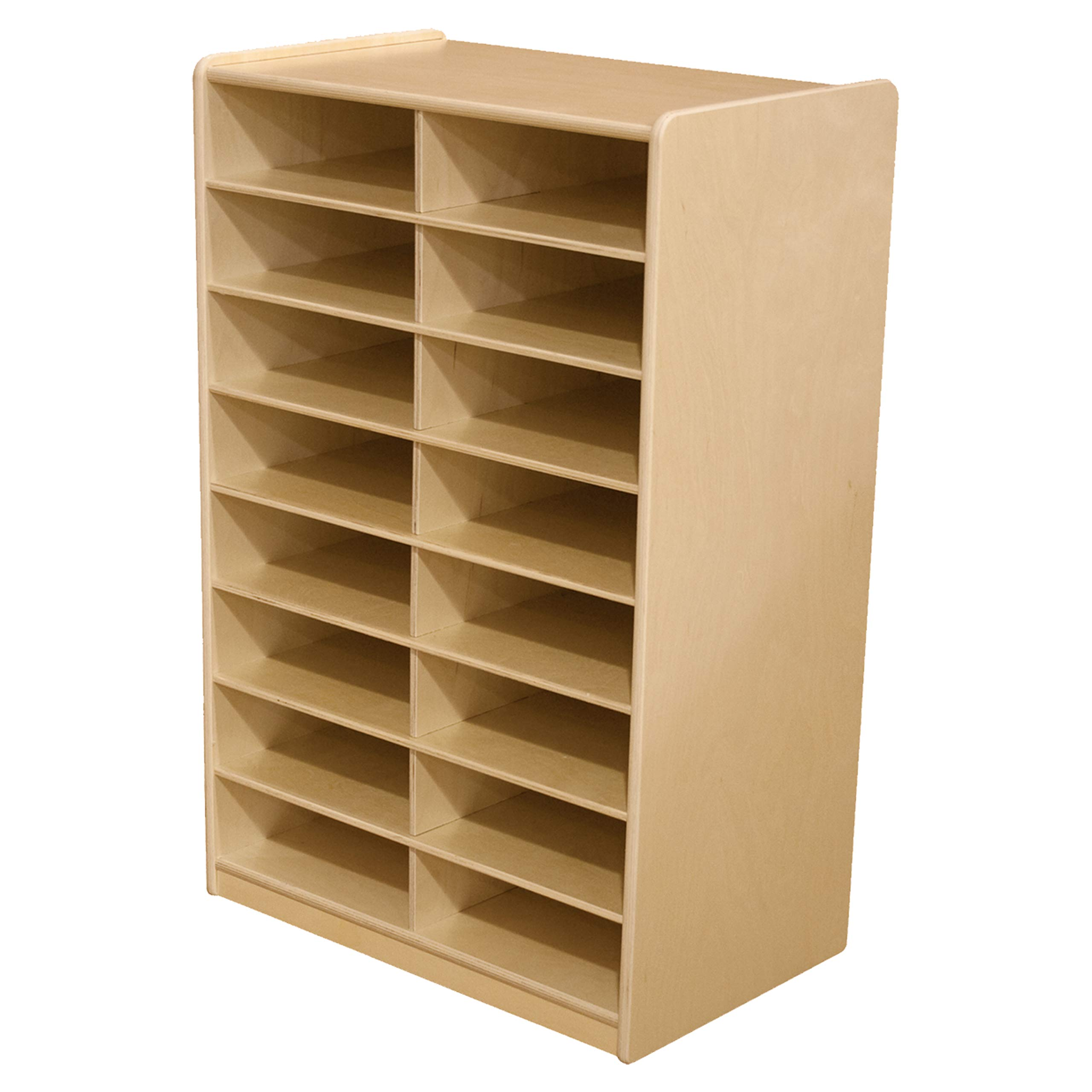 Wood Designs (16) 3'' Letter Tray Storage Unit Without Trays