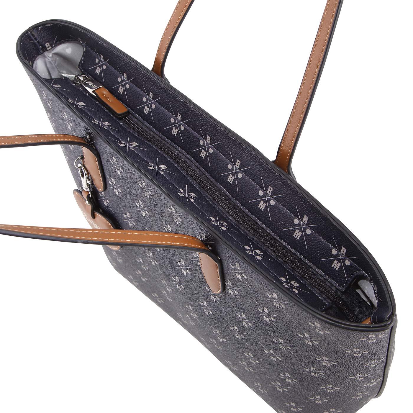 Be Mine Shopper Zooky | elegant konstläder damhandväska | stor Shopper handväska för kvinnor (42,5 x 29,5 x 13,5 cm) ecru
