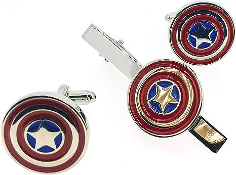 Pack Pasador de Corbata Gemelos para Camisa Capitán América ...