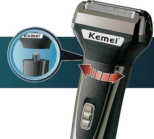 Kemei Km-6776 - Cortapelos para el pelo del cuerpo eléctrico para ...