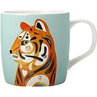 Maxwell & Williams Pete Cromer Wildlife Mug, Tiger Design, 375 ml Capacity