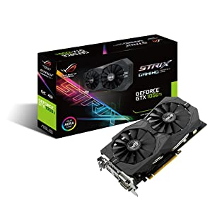 ASUS Geforce GTX 1050Ti 4GB ROG Strix OC Edition HDMI 2.0 DP 1.4 Gaming Graphics Card (STRIX-GTX1050TI-O4G-GAMING) Graphic Cards