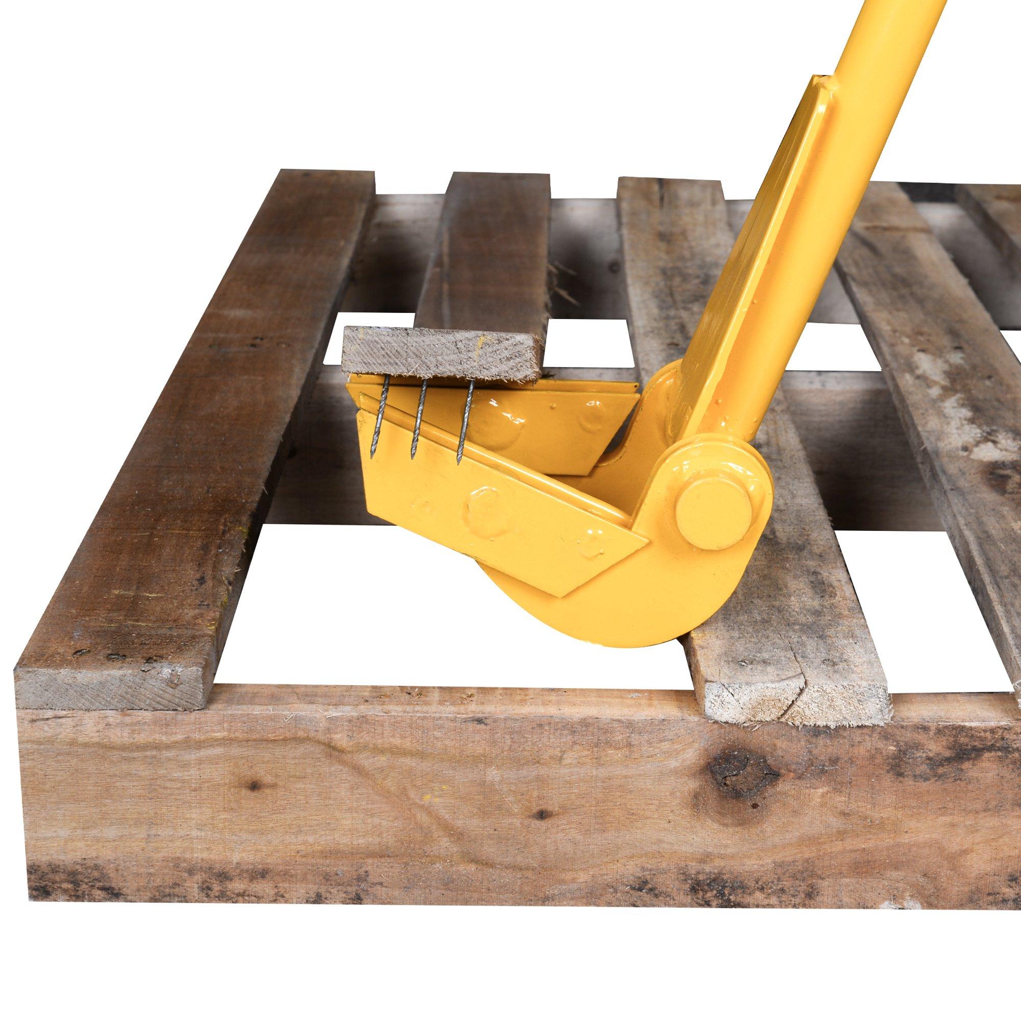 TIME SAVER - Pallet Buster Industrial Pry Bar For Easy Wood Pallet Destruction and Dismantler Premium Global Wood Breaker For Logistics Shippers Warehouses Anti Slip Grip Handles 41'' BL by 12Vmonster (Image #4)