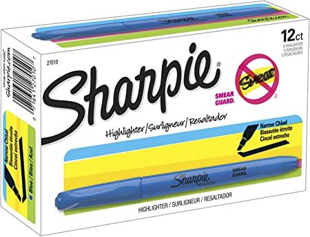Fluorescent Yellow 6-Pack Sharpie 27108PP Accent Pocket Style Highlighter