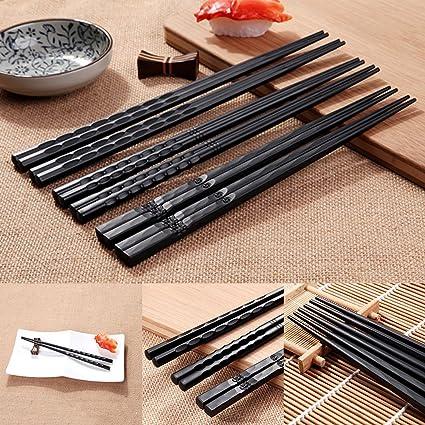 TOPMountain - Palillos de sushi japoneses durables (1 par ...