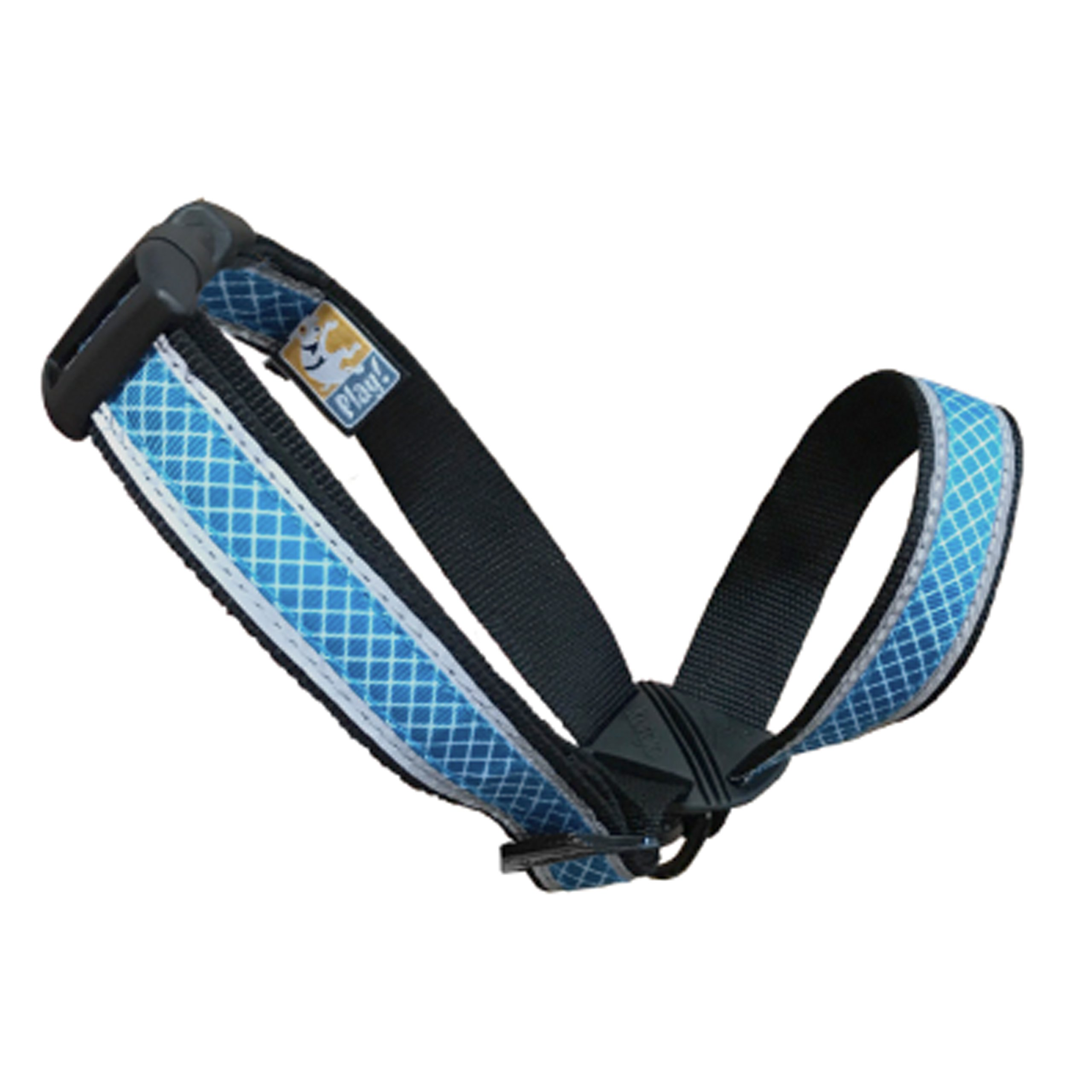 Kurgo Snout About Strap Dog Head Collar & No Pull Training Collar - Reflective Trim, Coastal Blue, Large