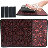Sewing Foot Pedal Stay in Place mat, sew Non Slip Rubber and Velcro pad to Keep Foot Pedal Steady on Hard Floor or…