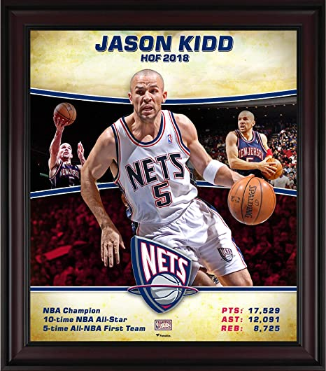 pretty nice 0f166 e53fd Jason Kidd New Jersey Nets Framed 15