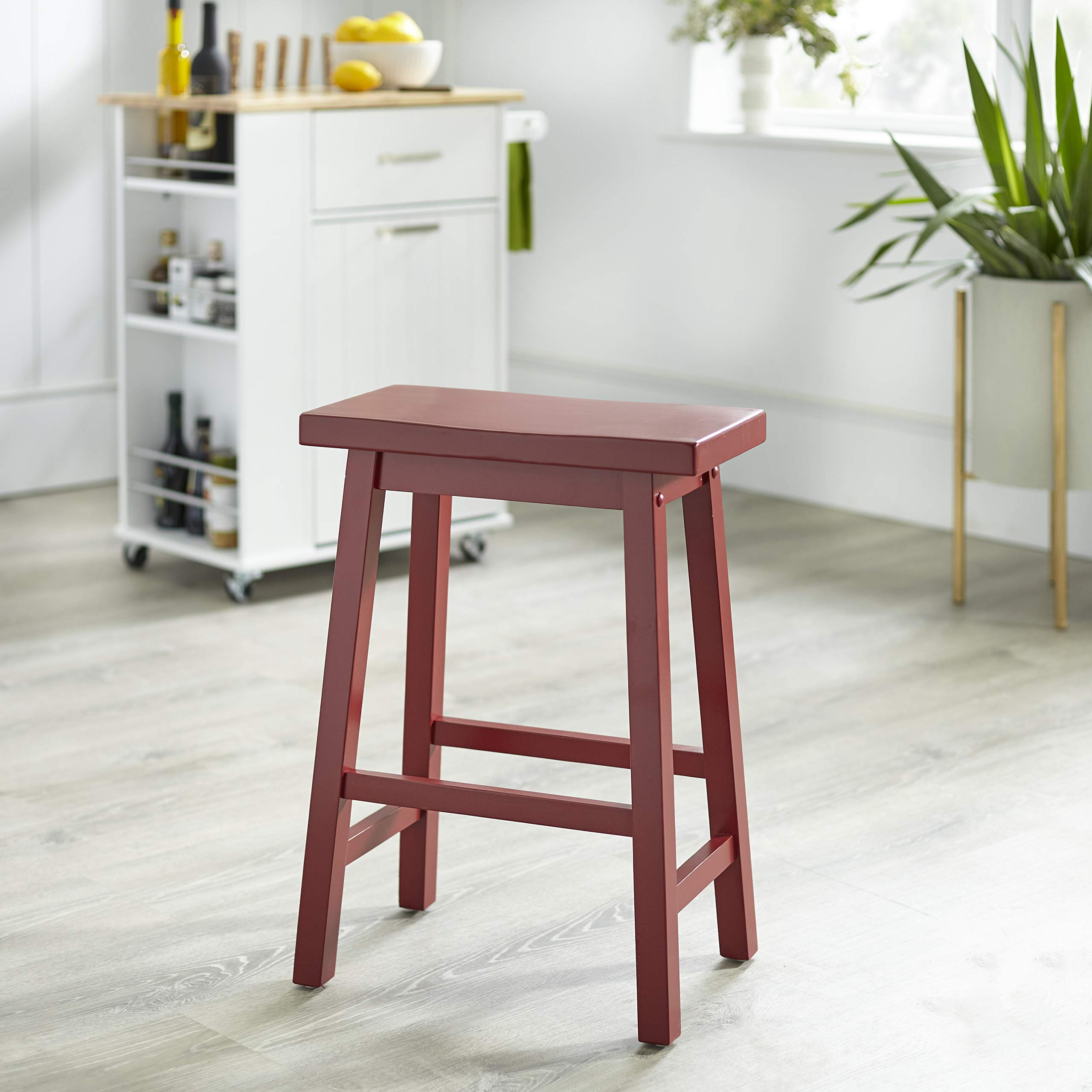 Target Marketing Systems 24-Inch Arizona Wooden Saddle Stool, Red by Target Marketing Systems