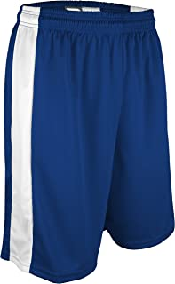 "product image for PT-6939-CB Men's and Women's Performance Dry Fit 9"" Short with White Side Panel-Made with Moisture Management and Odor Defense (XXX-Large, Royal/White)"