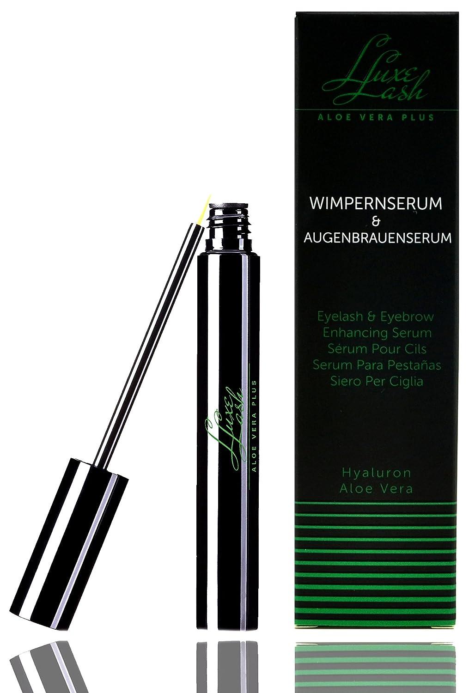 Luxe Lash Aloe Vera + | eyelash and eyebrow serum - 4 ml bottle | Crescita delle ciglia più veloce per ciglia più lunghe | Per allungare ciglia e sopracciglia