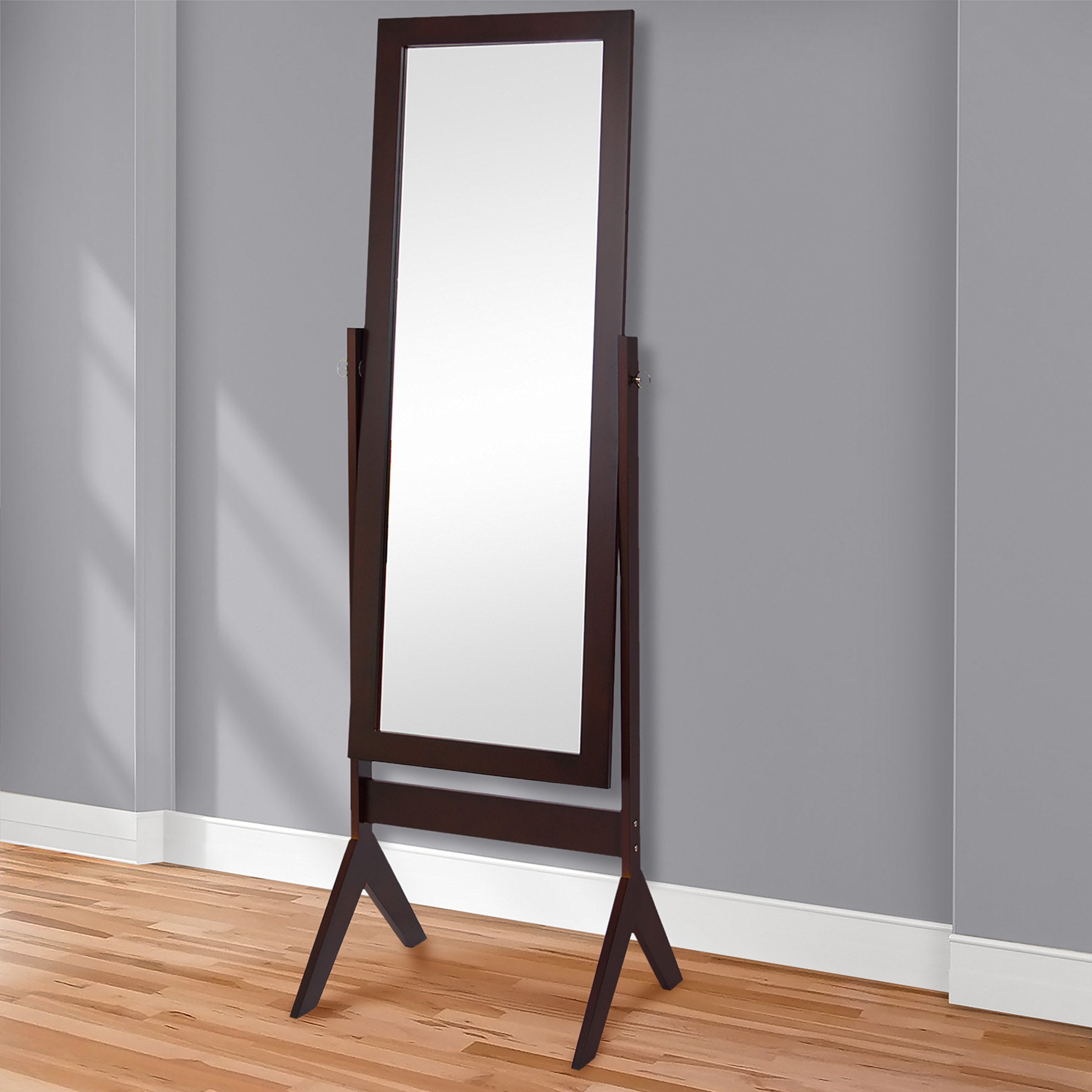 Best Choice Products 65'' Full-Length Cheval Floor Mirror Bedroom Home Furniture Decor - Brown