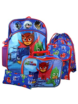PJ Masks Boys 6 piece Backpack School Set (One Size, Blue)