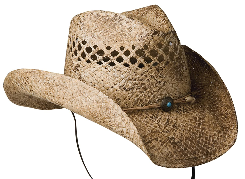Conner Hats Women's Sadie Western Shapable Raffia Hat Coffee OS F1101