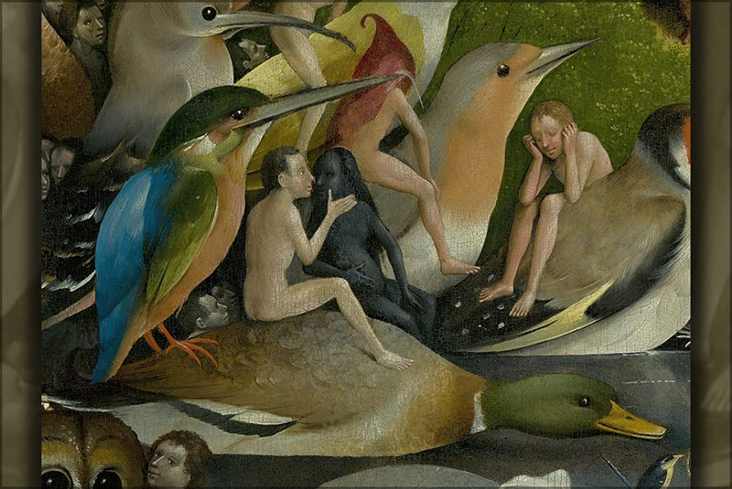 """24""""x36"""" Gallery Poster, Bosch, Hieronymus - The Garden of Earthly Delights 1450-1516"""