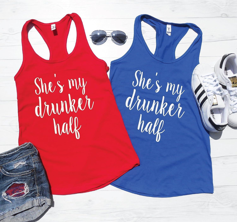 4TH of JULY TANKS Drinking Tanks Drunker Half Best Friend Drinking Shirts BFF Tanks July Fourth Shirts Tanks 4th of July Shirts
