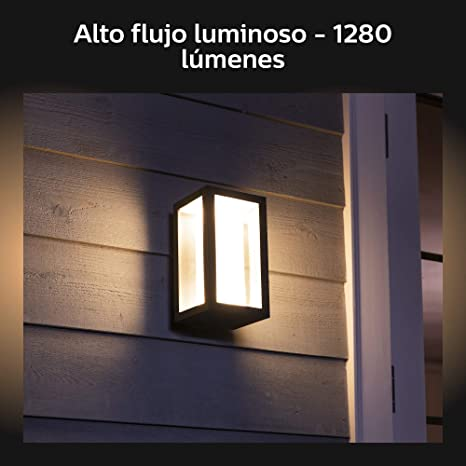 Philips Hue Impress Aplique Inteligente Exterior LED (IP44), Luz ...