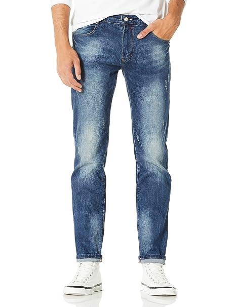 Demon&Hunter 817 Straight Series Hombre Pantalones Vaqueros Recto Jeans