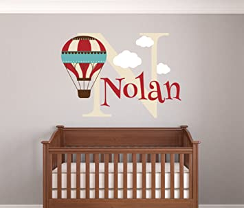Amazoncom Personalized Hot Air Balloon Name Wall Decal Baby Boy