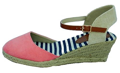 Mujer Jo Y Joe Yute Tacón Cuña Alpargatas Sandalias: Amazon.es: Zapatos y complementos