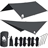 "CHILL GORILLA 10' HAMMOCK WATERPROOF RAIN FLY TENT TARP 170"" CENTERLINE. Lightweight RIPSTOP NYLON & Not Cheap Polyester. Stakes Included. Survival Gear Backpacking Camping ENO Accessory"